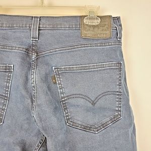 Levi's 569 Mens Blue Jeans Shorts Sz 34 Dark Wash